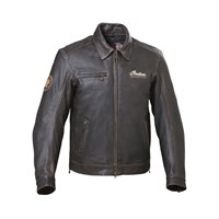 Men's Leather Classic Riding Jacket with Removable Lining, Dark Brown