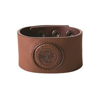 Indian Motorcycle Leather Snap Cuff - Brown