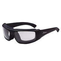 Riding Performance Sunglasses with Clear Photochromic Lens, Black