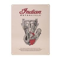 1914 Engine Embossed Metal Sign