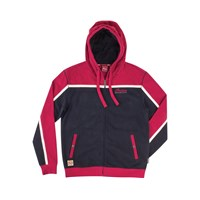 Men's Full-Zip Icon Script Hoodie Sweatshirt, Black/Red