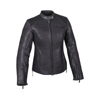 Women's Leather Hedstrom Riding Jacket with Removable Lining, Black