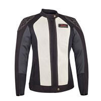 Women's Mesh Drifter Riding Jacket with Removable Lining, Black/White