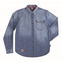 Men's Denim Washed Shirt, Blue