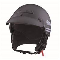 Highway Half Helmet with Sun Peak, Black