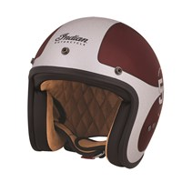 Open Face Munro 50th Helmet, Red/Silver