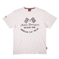 Men's Checkered Flags T-Shirt, White