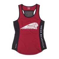 Women's Sport Racing Tank Top with Headdress logo, Red