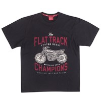 Men's Flat Track Racing Champions T-Shirt, Black