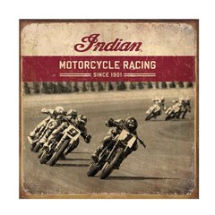 Flat Track Racing Metal Sign
