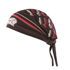 Headdress Head Tie, Red/Black