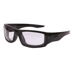 Riding Highway Sunglasses with Clear Lens, Black