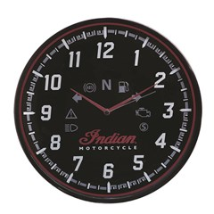Round Wall Clock with Modern Speedometer Design, Black