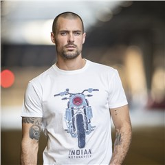 Men's FTR Front T-Shirt, Antique White