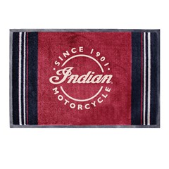 Door Mat with Icon Logo, Red/Black