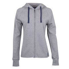 Women's Contrast Zip-Up Hoodie Sweatshirt, Gray