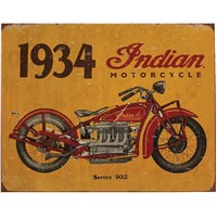 1934 Indian Motorcycle Sign - Yellow by Indian Motorcycle