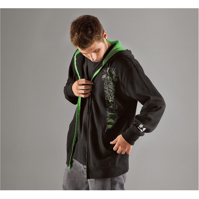 Blister Zip-Front Hooded Sweatshirt