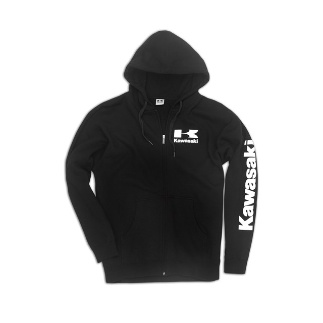 Logo Zip-Front Hooded Sweatshirt