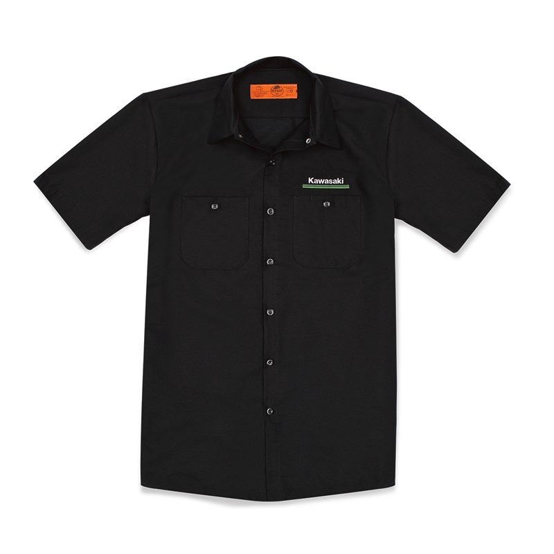 Kawasaki 3 Green Lines Workshirt