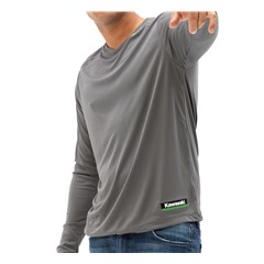 Kawasaki 3 Green Lines Cool Dry Long Sleeve Shirt