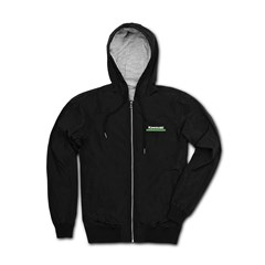 Kawasaki 3 Green Lines Hooded Windbreaker Jacket