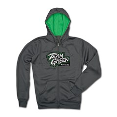 Team Green Zip-Front Hooded Sweatshirt