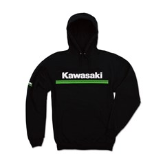 Kawasaki 3 Green Lines Hooded Sweatshirt