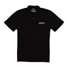 Kawasaki 3 Green Lines Technical Polo