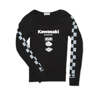 Women'S Race Checker Long Sleeve Tee
