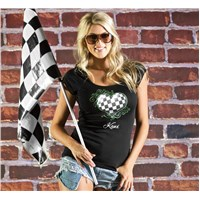 Women'S Checkered Heart Tee