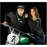 Women'S Kawasaki 3 Green Lines Hooded Sweatshirt