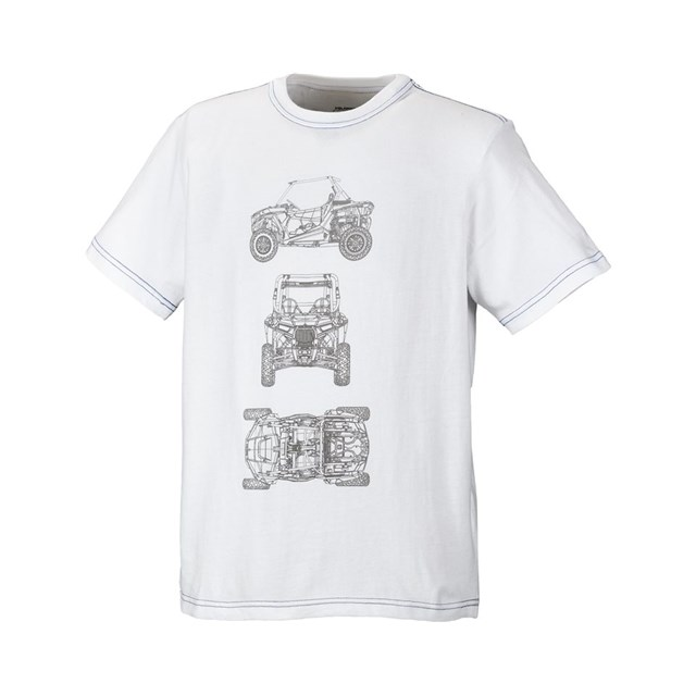 RZR® Youth CAD Short Sleeve Tee- White by Polaris®