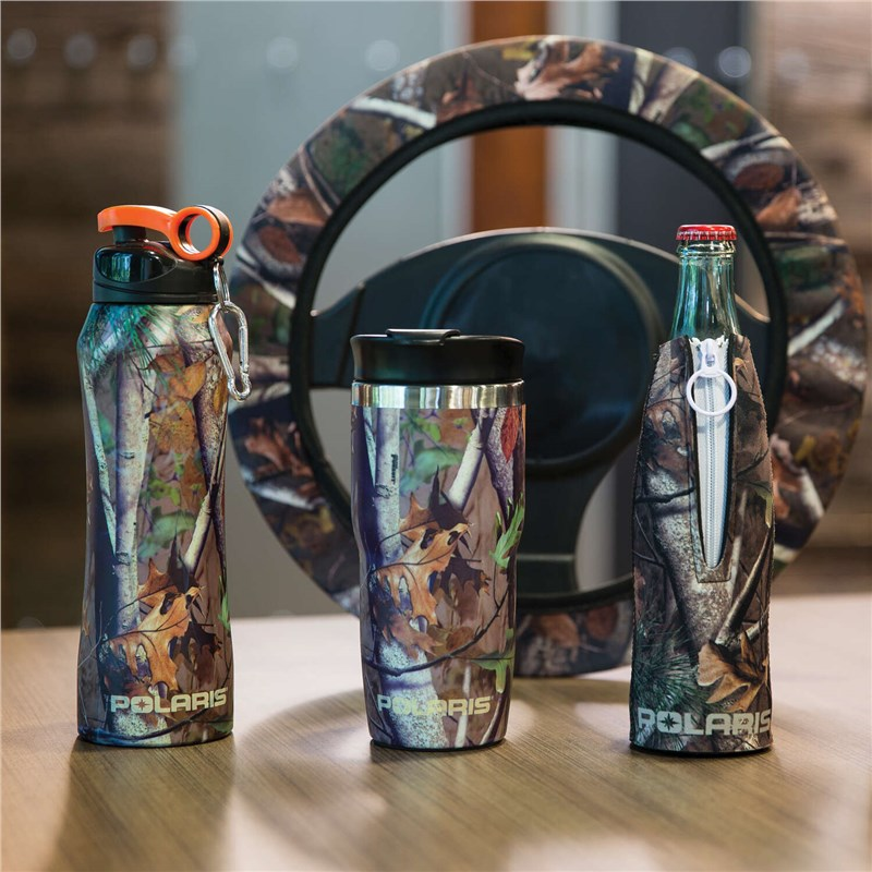 18 oz. Stainless Steel Water Bottle, Polaris® Pursuit Camo