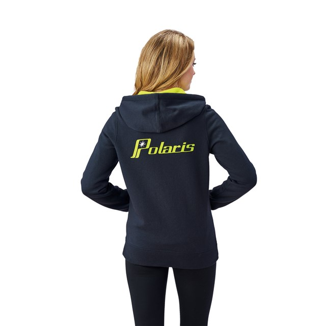 Women's Full Zip Retro Hoodie - Navy