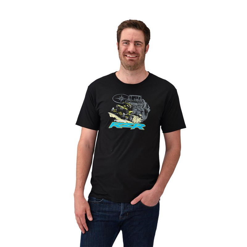 Men's Dune Graphic T-Shirt with RZR® Logo, Black
