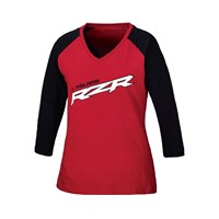 Womens Classic Short Sleeve Tee- Red/Black