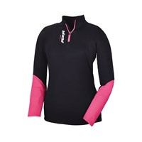Womens Lift Quarter Zip- Black/Pink
