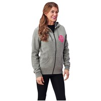Women's Full Zip Retro Hoodie - Charcoal