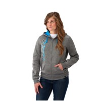 Women's Full Zip Hoodie - Gray