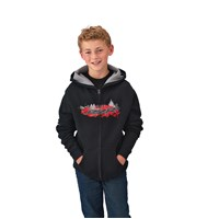 Youth Boy's FZ Hoodie - Black/Red