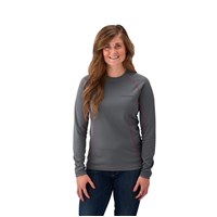 Women's Long-Sleeve Cooling Performance Shirt with Polaris® Logo, Gray