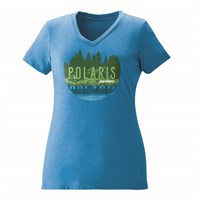 Women's Trail V-Neck Tee - Turquoise
