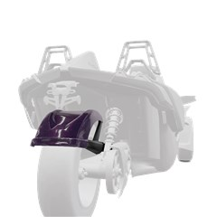 265 mm. Rear Fender - Midnight Purple