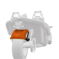 265 mm. Rear Fender - Zion Orange