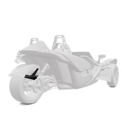 305 mm. Rear Fender - Monument White