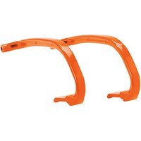 Snowmobile Ski Hoops - Orange Burst