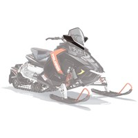 AXYS® Snowmobile Mid Windshield - Smoke