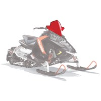 AXYS® Snowmobile Mid Windshield - Red