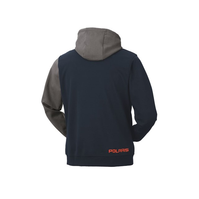 Men's Color Blocked Hoodie - Navy